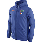 Nike Men's Florida Gators Blue Therma-FIT Full-Zip Football Hoodie