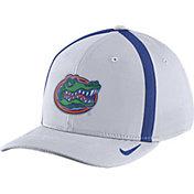 Nike Men's Florida Gators White Aerobill Swoosh Flex Classic99 Football Sideline Hat
