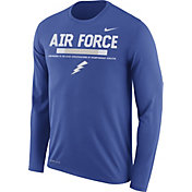 Nike Men's Air Force Falcons Blue Football Sideline Staff Legend Long Sleeve Shirt