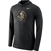 Nike Men's Florida State Seminoles Black Dri-Blend Hoodie Long Sleeve Shirt