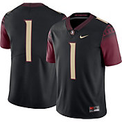 Nike Men's Florida State Seminoles #1 Black Limited Football Jersey