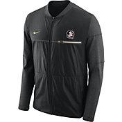 Nike Men's Florida State Seminoles Elite Hybrid Football Black Full-Zip Jacket
