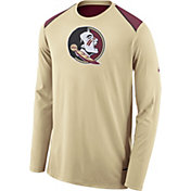 Nike Men's Florida State Seminoles Gold Elite Shooter Long Sleeve Shirt