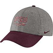 Nike Men's Florida State Seminoles Grey/Garnet Heritage86 Heather Adjustable Hat