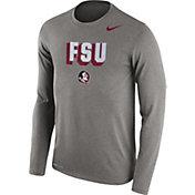 Nike Men's Florida State Seminoles Grey Dri-FIT Franchise Long Sleeve T-Shirt