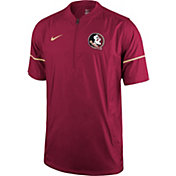 Nike Men's Florida State Seminoles Garnet Football Sideline Hot Jacket