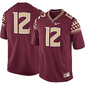 Nike Men's Florida State Seminoles #12 Garnet Game Football Jersey