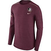 Nike Men's Florida State Seminoles Heathered Garnet Player Football Sideline Long Sleeve Shirt