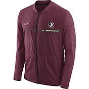 Nike Men's Florida State Seminoles Garnet Elite Hybrid Football Full-Zip Jacket