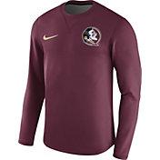 Nike Men's Florida State Seminoles Garnet Modern Football Sideline Crew Long Sleeve Shirt