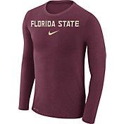 Nike Men's Florida State Seminoles Garnet Marled Dri-FIT Long Sleeve Shirt