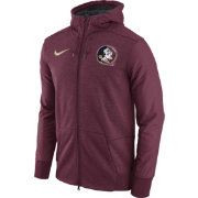 Nike Men's Florida State Seminoles Heathered Garnet Football Travel Full-Zip Hoodie