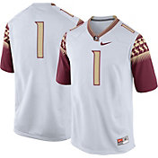 Nike Men's Florida State Seminoles White #1 Game Football Jersey