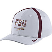 Nike Men's Florida State Seminoles White Aerobill Swoosh Flex Classic99 Football Sideline Hat