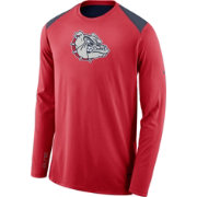 Nike Men's Gonzaga Bulldogs Red Elite Shooter Long Sleeve Shirt