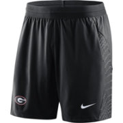 Nike Men's Georgia Bulldogs Fly Knit Football Black Shorts