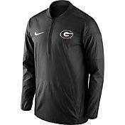 Nike Men's Georgia Bulldogs Lockdown Sideline Black Half-Zip Jacket