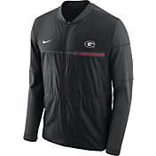 Nike Men's Georgia Bulldogs Elite Hybrid Football Black Full-Zip Jacket