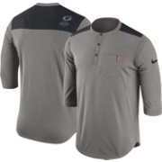 Nike Men's Georgia Bulldogs Grey Dri-FIT Henley Shirt