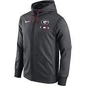 Nike Men's Georgia Bulldogs Anthracite Therma-FIT Full-Zip Football Hoodie