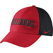 Nike Men's Georgia Bulldogs Wordmark Swoosh Flex Classic99 Red/Black Hat