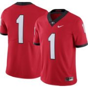 Nike Men's Georgia Bulldogs #1 Red Limited Football Jersey