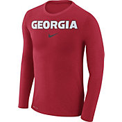Nike Men's Georgia Bulldogs Red Marled Dri-FIT Long Sleeve Shirt