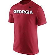 Nike Men's Georgia Bulldogs Red Wordmark T-Shirt