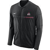 Nike Men's Ohio State Buckeyes Elite Hybrid Football Black Full-Zip Jacket