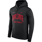 Nike Men's Ohio State Buckeyes Football Sideline Black Therma-FIT Hoodie