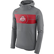 Nike Men's Ohio State Buckeyes Grey Basketball Performance Fan Hoodie