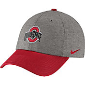 Nike Men's Ohio State Buckeyes Grey/Scarlet Heritage86 Heather Adjustable Hat