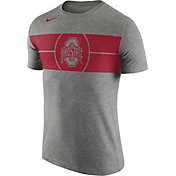 Nike Men's Ohio State Buckeyes Gray Logo Basketball T-Shirt