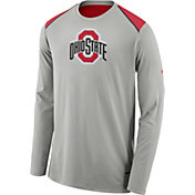 Nike Men's Ohio State Buckeyes Gray Elite Shooter Long Sleeve Shirt