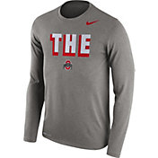 Nike Men's Ohio State Buckeyes Gray Dri-FIT Franchise Long Sleeve T-Shirt