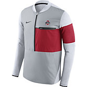 Nike Men's Ohio State Buckeyes Gray/Scarlet Shield Hybrid Football Sideline Jacket
