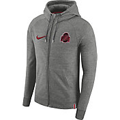 Nike Men's Ohio State Buckeyes Gray AW77 French Terry Full-Zip Hoodie
