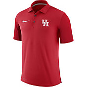 Nike Men's Houston Cougars Red Team Issue Football Sideline Performance Polo