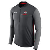 Nike Men's Ohio State Buckeyes Anthracite Coach Half-Zip Football Sideline Jacket