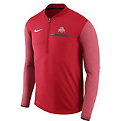 Nike Men's Ohio State Buckeyes Scarlet Coach Half-Zip Football Sideline Jacket