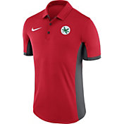 Nike Men's Ohio State Buckeyes Scarlet Alt Logo Evergreen Football Performance Polo