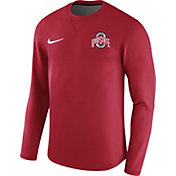 Nike Men's Ohio State Buckeyes Scarlet Modern Football Sideline Crew Long Sleeve Shirt