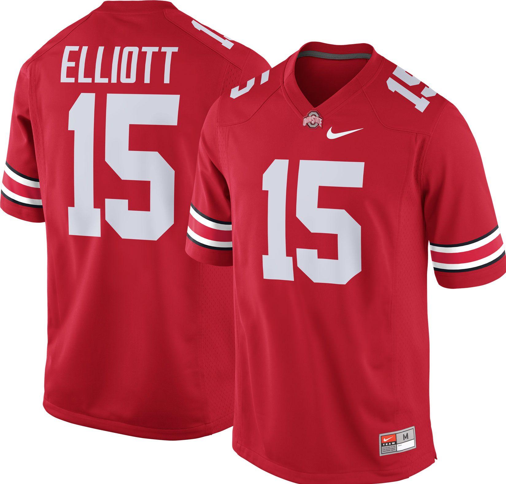 Product Image � Nike Men\u0027s Ezekiel Elliott Ohio State Buckeyes #15 Scarlet  Replica College Alumni Jersey