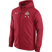 Nike Men's Ohio State Buckeyes Scarlet Therma-FIT Full-Zip Football Hoodie