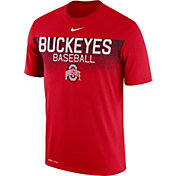 Nike Men's Ohio State Buckeyes Scarlet Dri-Fit Team Issue Performance Baseball T-Shirt