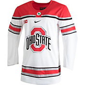 Nike Men's Ohio State Buckeyes White Replica Hockey Jersey