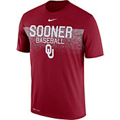 Nike Men's Oklahoma Sooners Crimson Dri-Fit Team Issue Performance Baseball T-Shirt