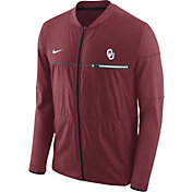 Nike Men's Oklahoma Sooners Crimson Elite Hybrid Football Full-Zip Jacket