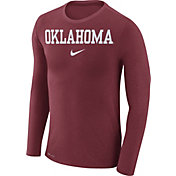 Nike Men's Oklahoma Sooners Crimson Marled Dri-FIT Long Sleeve Shirt