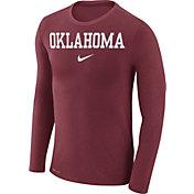 Nike Men's Oklahoma Sooners Crimson Marled Dri-FIT Long Sleeve Shirt